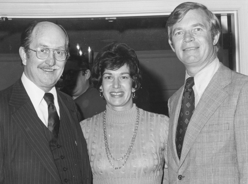 From left to right: Joe Howell, a personal friend of Cochran, Wagley and Cochran in 1975. (Courtesy of Wagley)