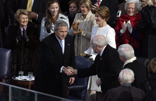 President George W. Bush and Vice President Dick Cheney were sworn into a second term at the 55th Presidential Inauguration.