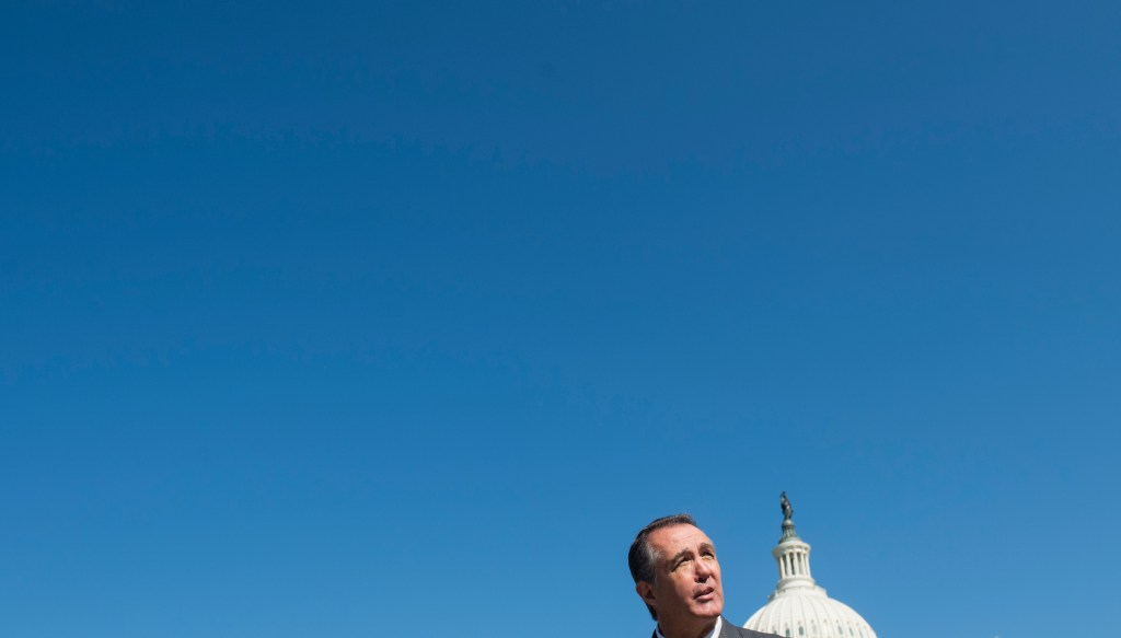 UNITED STATES - APRIL 25: Rep. Trent Franks, R-Ariz., speaks during a news conference outside of the Capitol on Thursday, April 25, 2013, on the