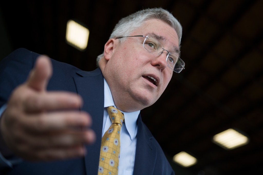West Virginia Attorney General Patrick Morrisey has turned his attention to Blankenship in the final days of the campaign. (Tom Williams/CQ Roll Call)