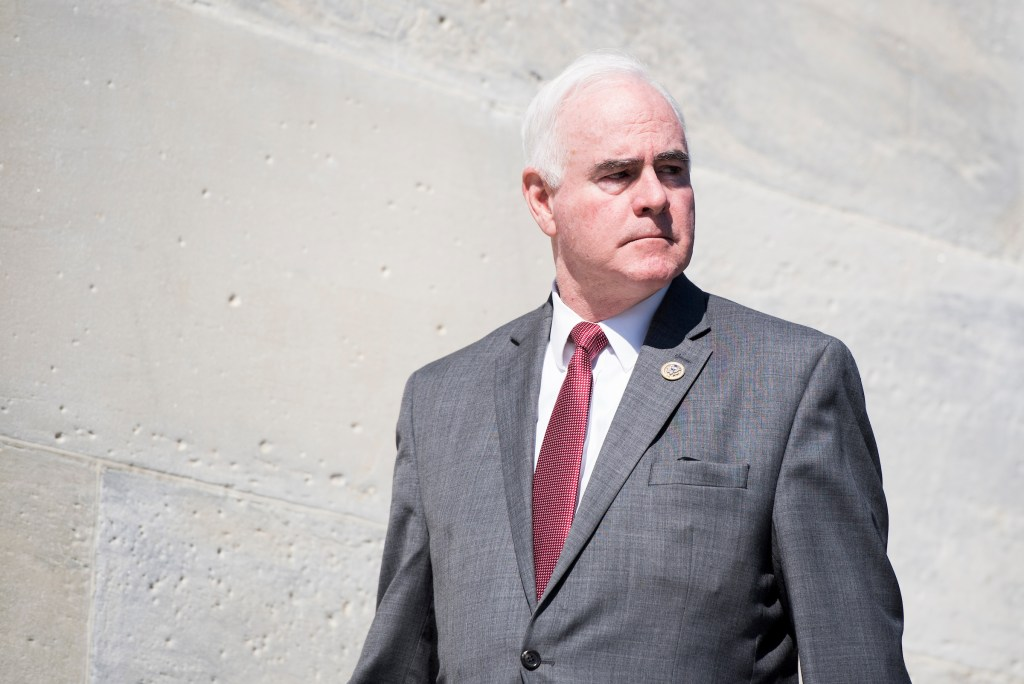 Rep. Patrick Meehan, R-Pa., walks down the House steps after final votes of the week in the Capitol. (Bill Clark/CQ Roll Call File Photo)