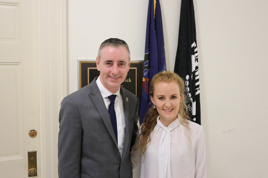 Lisa Whitten, right, is a PhD student interning in Rep. Brian Fitzpatrick's office. (Courtesy Fitzpatrick's office)