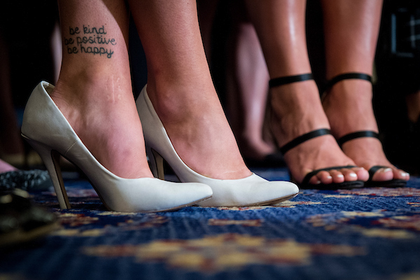 UNITED STATES – JULY 24: A tattoo reading,