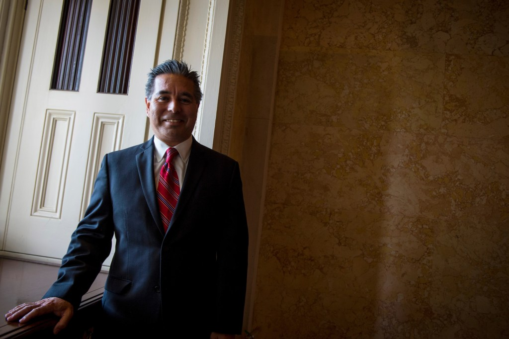 UNITED STATES – July 11: Senior Adviser and Director of Member Services to House Minority Leader Nancy Pelosi, Jaime E. Lizárraga, poses for a photo in the Capitol Wednesday July 11, 2018. (Photo By Sarah Silbiger/CQ Roll Call)