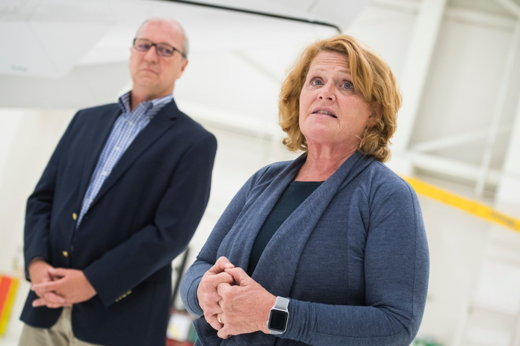 North Dakota Democratic Sen. Heidi Heitkamp is in a tough race against GOP Rep. Kevin Cramer, and she now tops our list of most vulnerable senators. (Tom Williams/CQ Roll Call file photo)