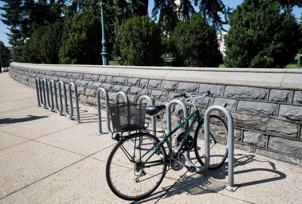 UNITED STATES - SEPTEMBER 6: Bike rack outside of Capitol (Photo By Bill Clark/CQ Roll Call)