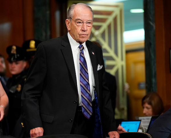 SEPTEMBER 27: Chairman Charles E. Grassley, R-Iowa, arrives in the Senate Judiciary Committee where Dr. Christine Blasey Ford will testify about Brett Kavanaugh on Capitol Hill in Washington, Thursday, Sept. 27, 2018. (POOL/AP Photo/Andrew Harnik)