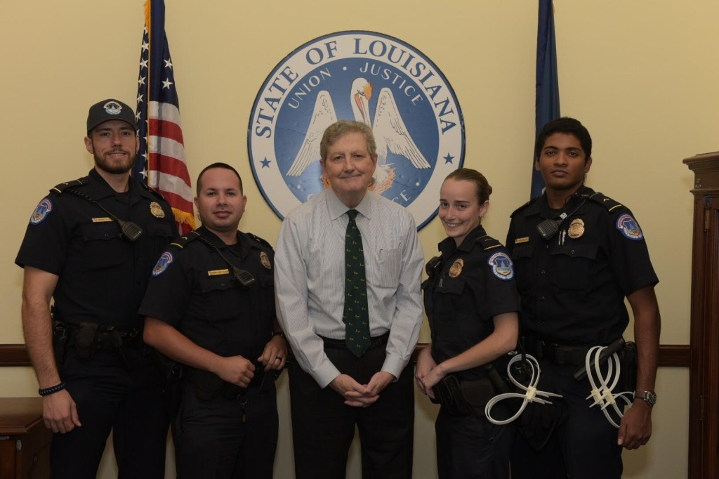 The officers who joined him working on the Supreme Court confirmation hearings last week. (Courtesy Kennedy)