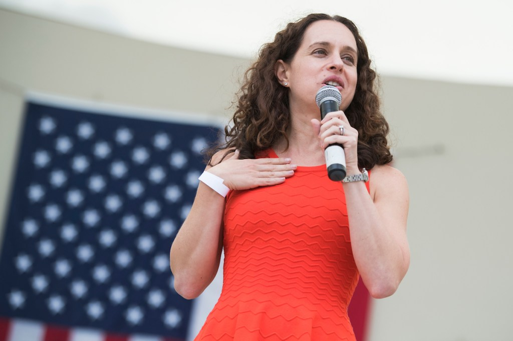 UNITED STATES - NOVEMBER 3: Lauren Baer, candidate for Florida's 18th Congressional District, attends a Jimmy Buffett concert in support of Florida Democratic candidates including Sen. Bill Nelson, D-Fla., and Andrew Gillum, candidate for Florida governor, at Meyer Ampitheatre in West Palm Beach on November 3, 2018. (Photo By Tom Williams/CQ Roll Call)