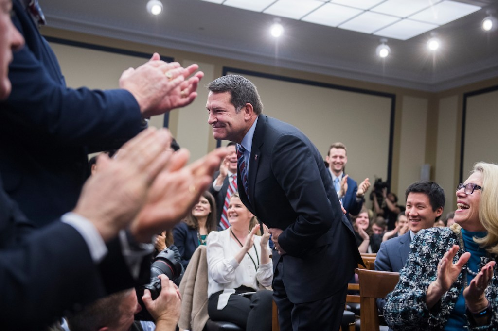 Rep.-elect Mark Green, R-Tenn., drew number 85, the last pick for office space. (Photo By Tom Williams/CQ Roll Call)