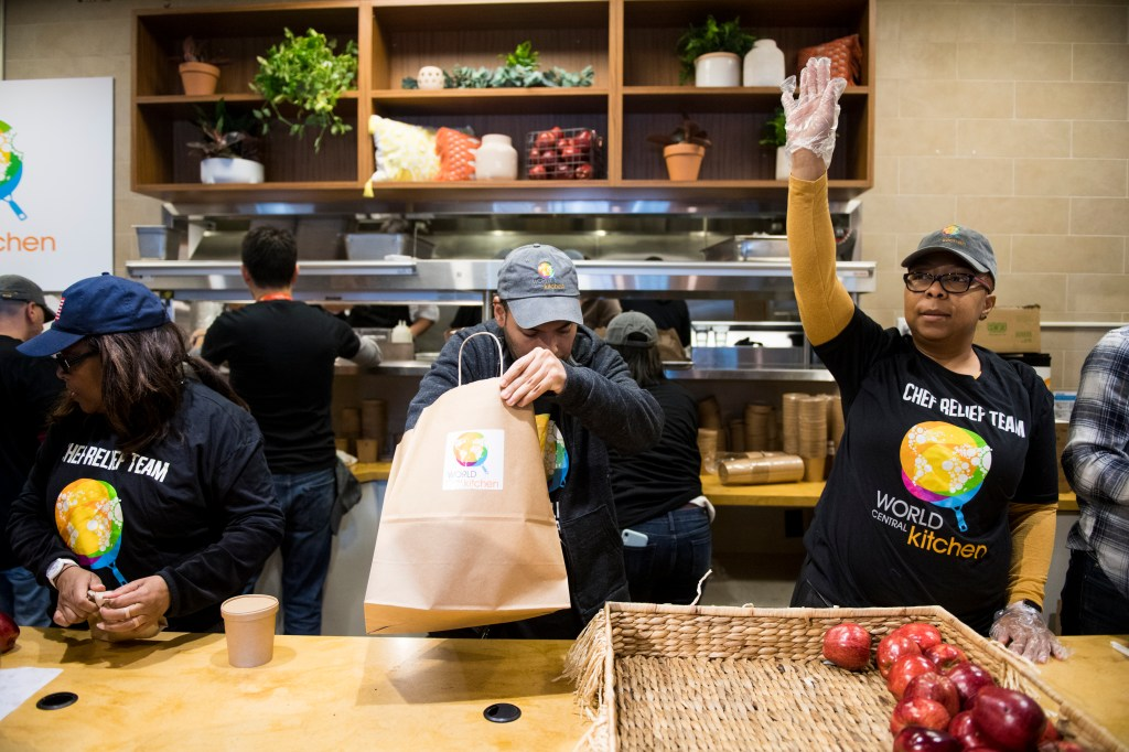 UNITED STATES - JANUARY 16: Chef Jose AndrÈs' nonprofit World Central Kitchen serves up meals for federal workers affected by the government shut down in Washington on Wednesday, Jan. 16, 2019. (Photo By Bill Clark/CQ Roll Call)