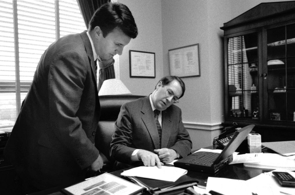 Cline worked for fellow Bates College alum Robert W. Goodlatte for eight years. (Phyllis Graber Jensen/Bates College)