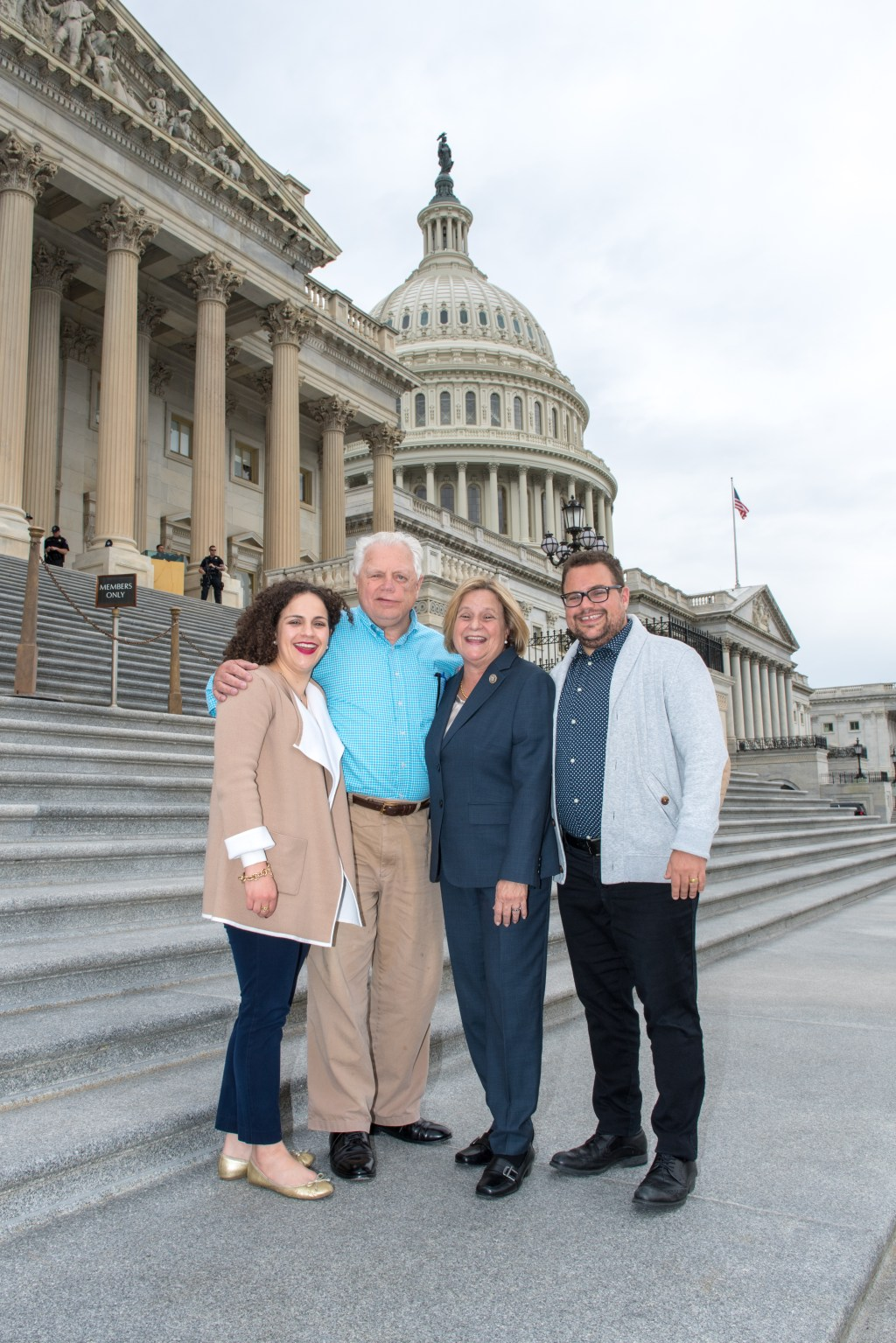 Former Rep. Ileana Ros-Lehtinen with her husband, Dexter, and their kids, Patty and Rigo in D.C. last year. (Photo courtesy of Rodrigo Heng-Lehtinen)
