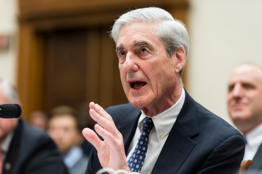 Former Special Counsel Robert Mueller testifyies during the House Judiciary Committee hearing on