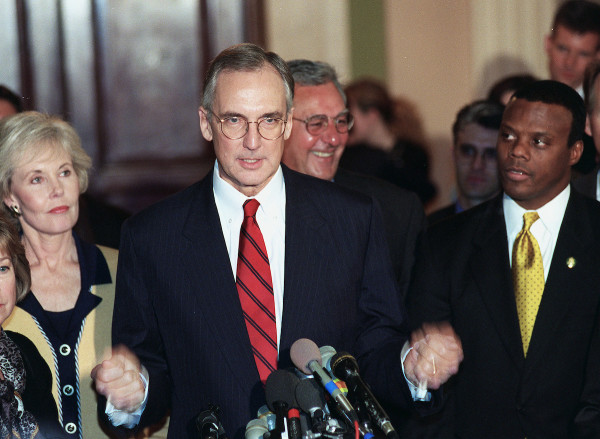 Livingston worked with Clinton to pass spending deals during 1998 impeachment proceedings. (Douglas Graham/CQ Roll Call file photo)