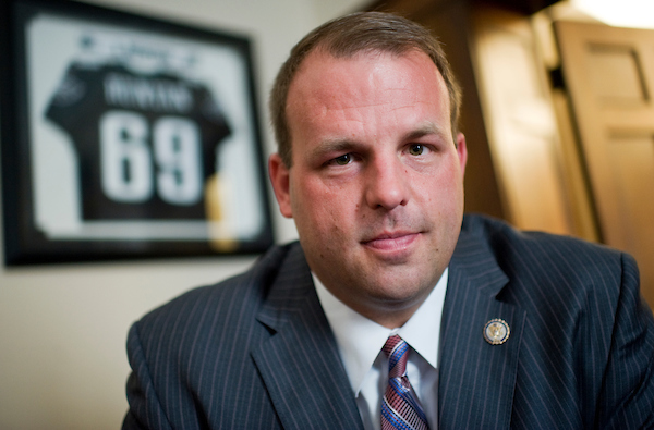 UNITED STATES - JUNE 21: Rep. Jon Runyan, R-N.J., is photographed in his Longworth office. (Photo By Tom Williams/Roll Call)