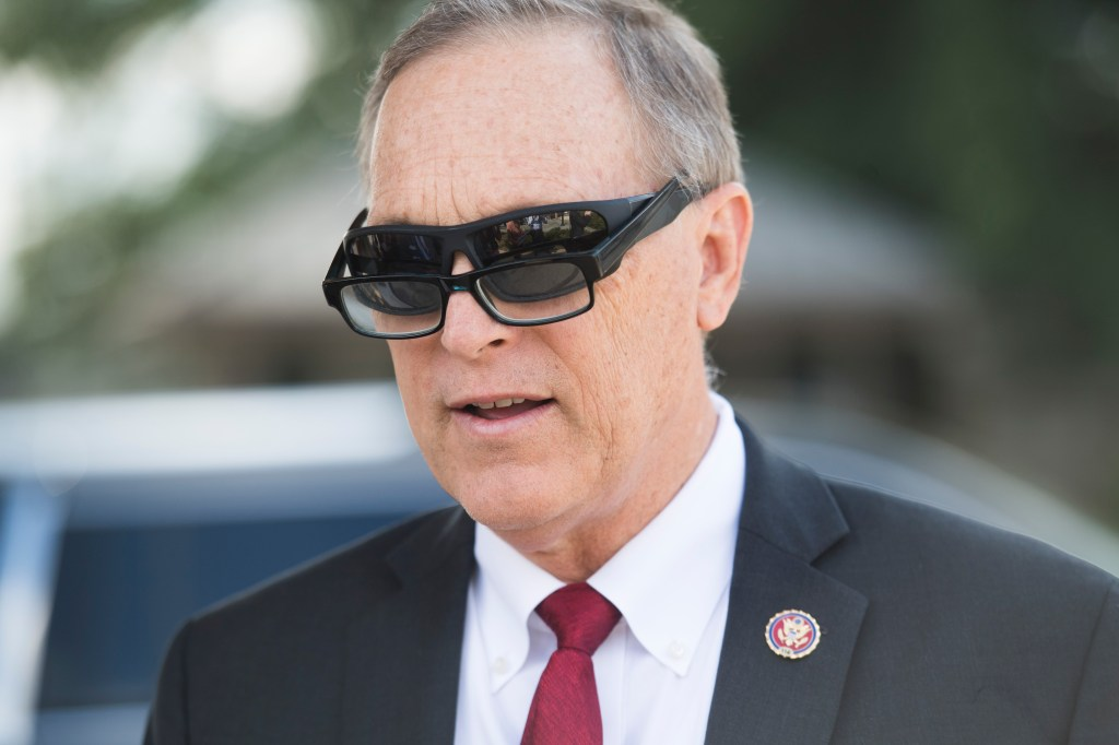 UNITED STATES - SEPTEMBER 18: Rep. Andy Biggs, R-Ariz., arrives for a news conference on the gun control debate in support of the Second Amendment outside of the Capitol on Wednesday, September 18, 2019. (Photo By Tom Williams/CQ Roll Call)