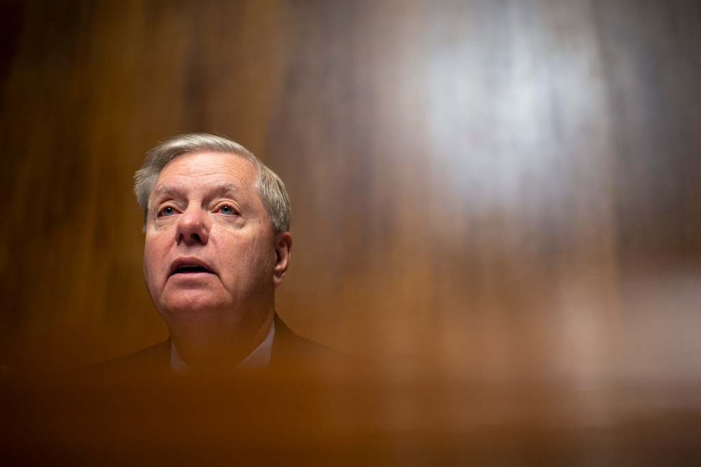 UNITED STATES - NOVEMBER 6: Chairman Lindsey Graham, R-S.C., speaks during the Senate Judiciary Committee hearing