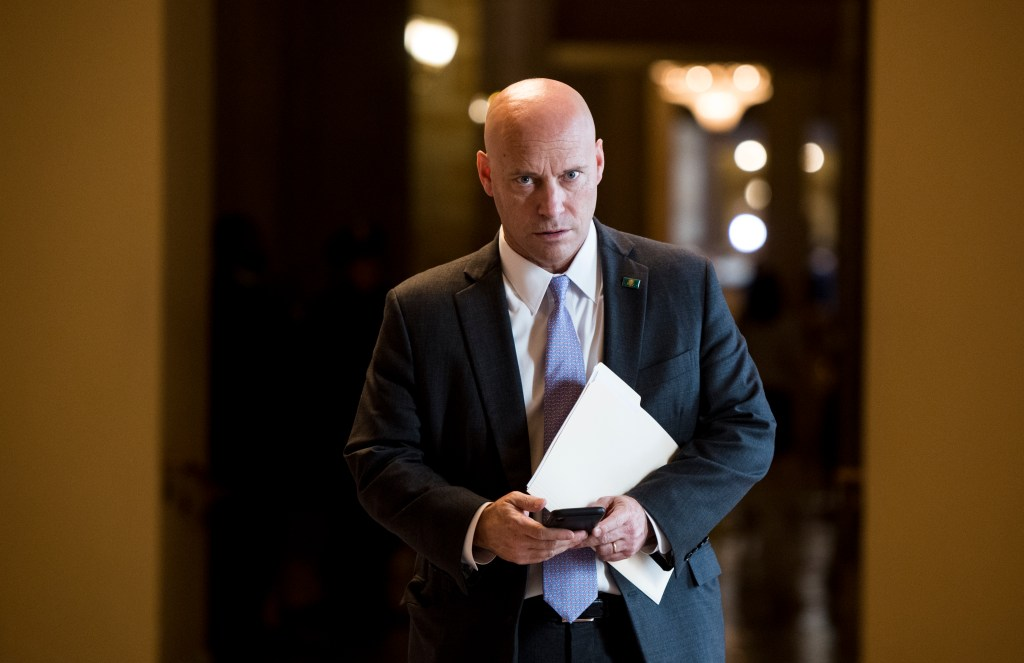 UNITED STATES - NOVEMBER 5: Marc Short, Chief of Staff to Vice President Mike Pence, waits for Pence to arrive for the Senate Republicans' lunch in the Capitol on Tuesday, Nov. 5, 2019. (Photo By Bill Clark/CQ Roll Call)