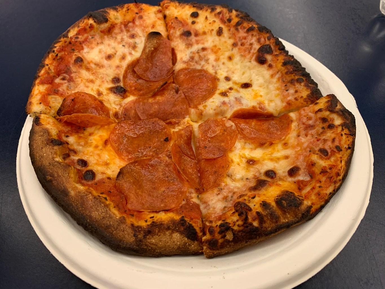 Brett Kavanaugh's pizza. (Clyde McGrady / CQ Roll Call)