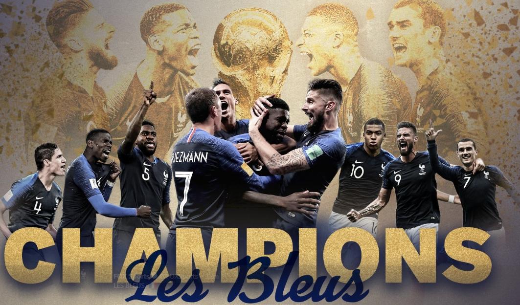 2018世足冠軍出爐 法國4:2踢走克羅埃西亞捧金盃 - 世界新聞網