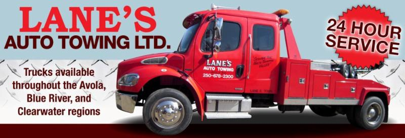 Lanes Auto Towing  Opening Hours  3748 Avola Frontage E Avola BC