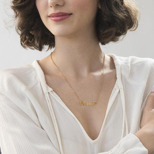 Carrie Namenskette aus 750er vergoldetem Silber  MeineNamenskette
