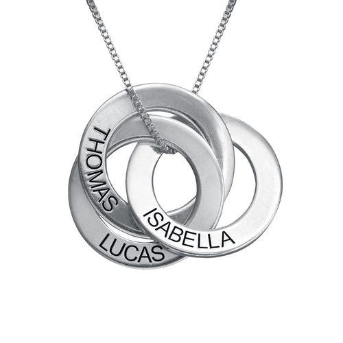 Russische Ring Halskette mit Gravur  Meine Namenskette