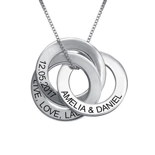 Russische Ring Halskette mit Gravur  MeineNamenskette