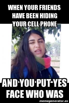 Hiding Phone Meme : hiding, phone, Personalizado, Friends, Hiding, Phone, 31128728