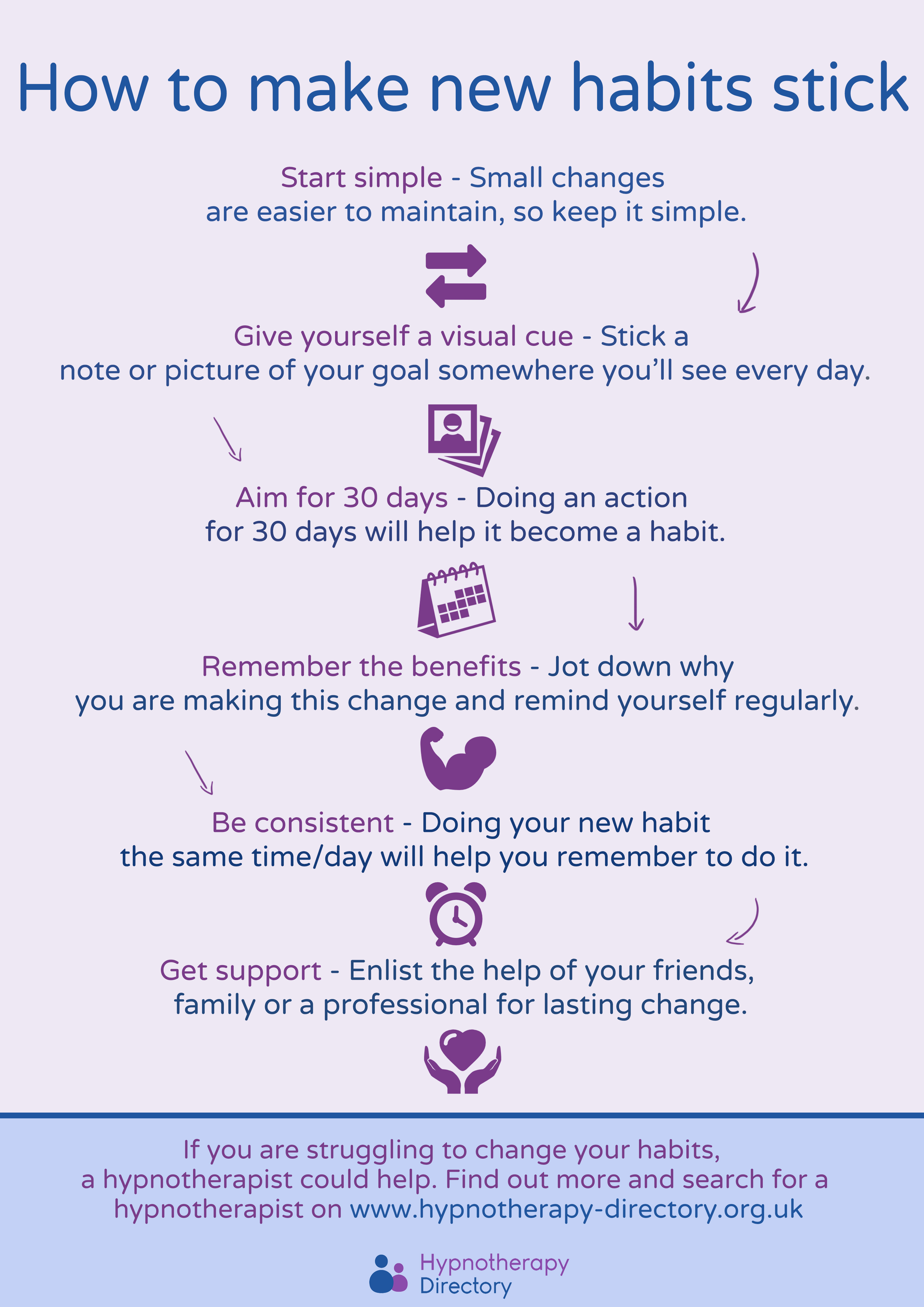 How To Make Habits Stick Infographic