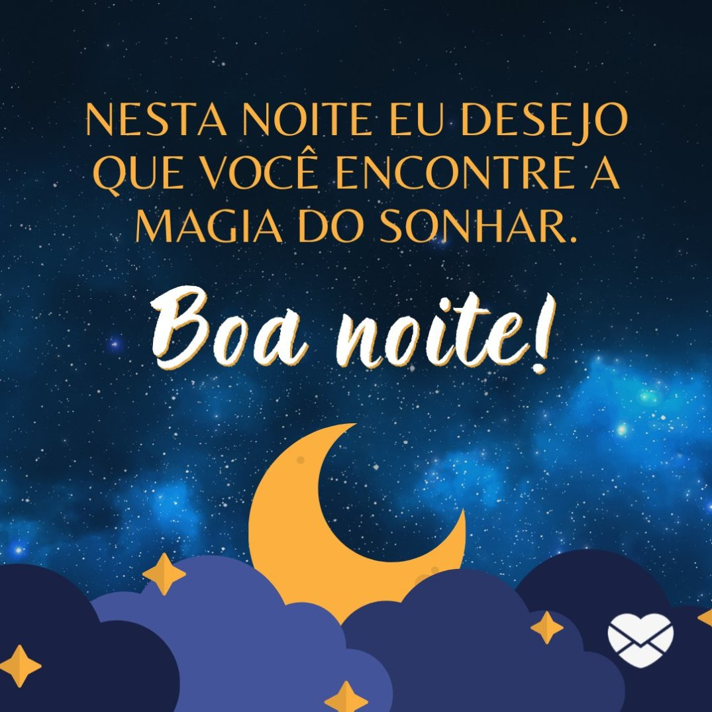 Bons sonhos, feliz noite