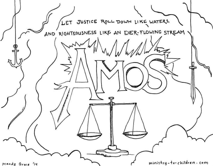 Amos Bible Coloring Page
