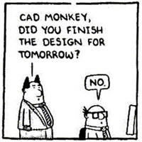 Dilbert Cad Monkey And The Truth Of Sitting At Your Desk