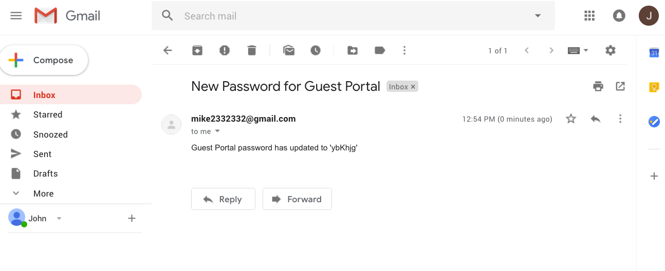 Change the Guest Portal password and email administrator