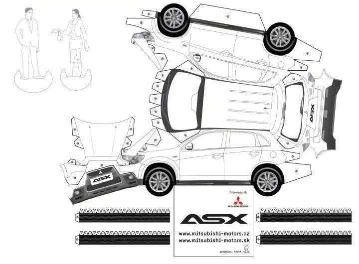 Mitsubishi ASX Papercrafts : Czech Republic ・・・・|FANTASTIC