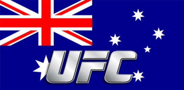 UFC Logo over Australian Flag