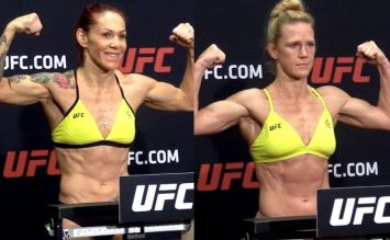 Cris Cyborg & Holly Holm UFC 219 weigh-in