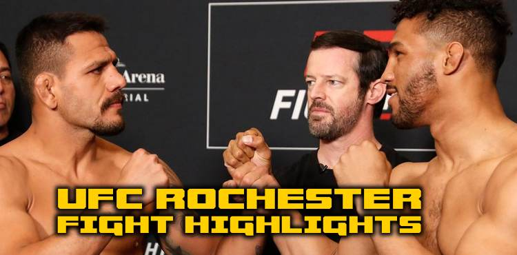 UFC Rochester main card fight highlights