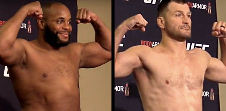 Daneil Cormier vs Stipe Miocic UFC 241 official weigh-in