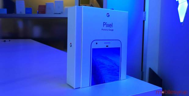 Google Pixel Really Blue Box