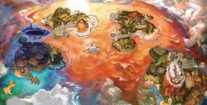 Pokemon Sun and Ultra Moon map of Alola
