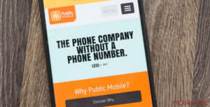 Public Mobile on smartphone