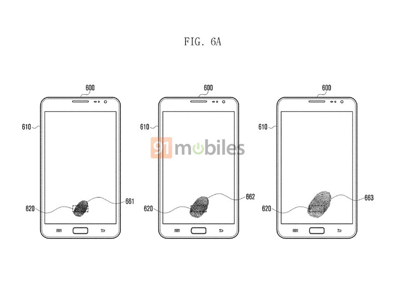 Samsung patent leak shows potential in-display fingerprint