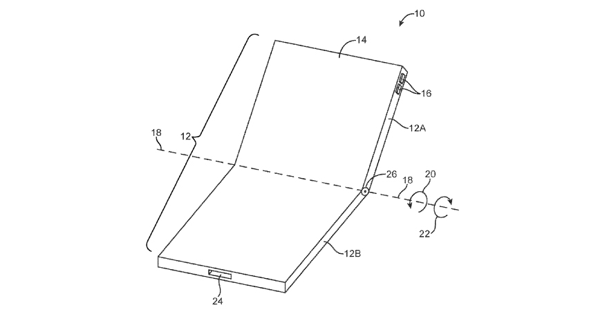 Apple quietly files patent for possible foldable iPhone design