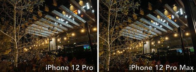 iphone 12 pro vs iphone 12 pro max low light 1