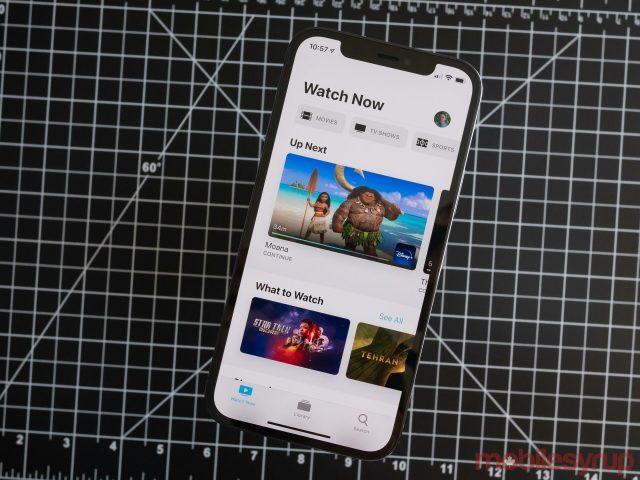 iPhone 12 Pro Apple TV app