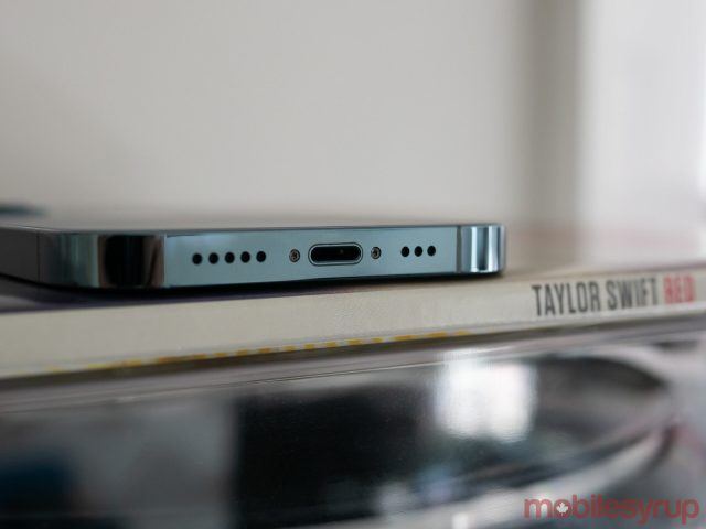 iPhone 12 Pro Lightning port