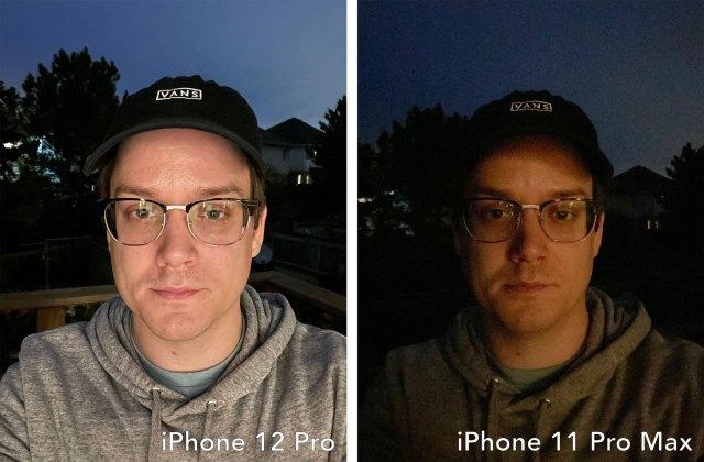 iPhone 12 vs iPhone 11 Pro Max selfie shooter