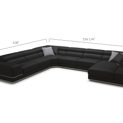 Bergamo Sectional Leather Modern Sofa Gray Contemporary Olive Green Set Meet The Sophisticated Black